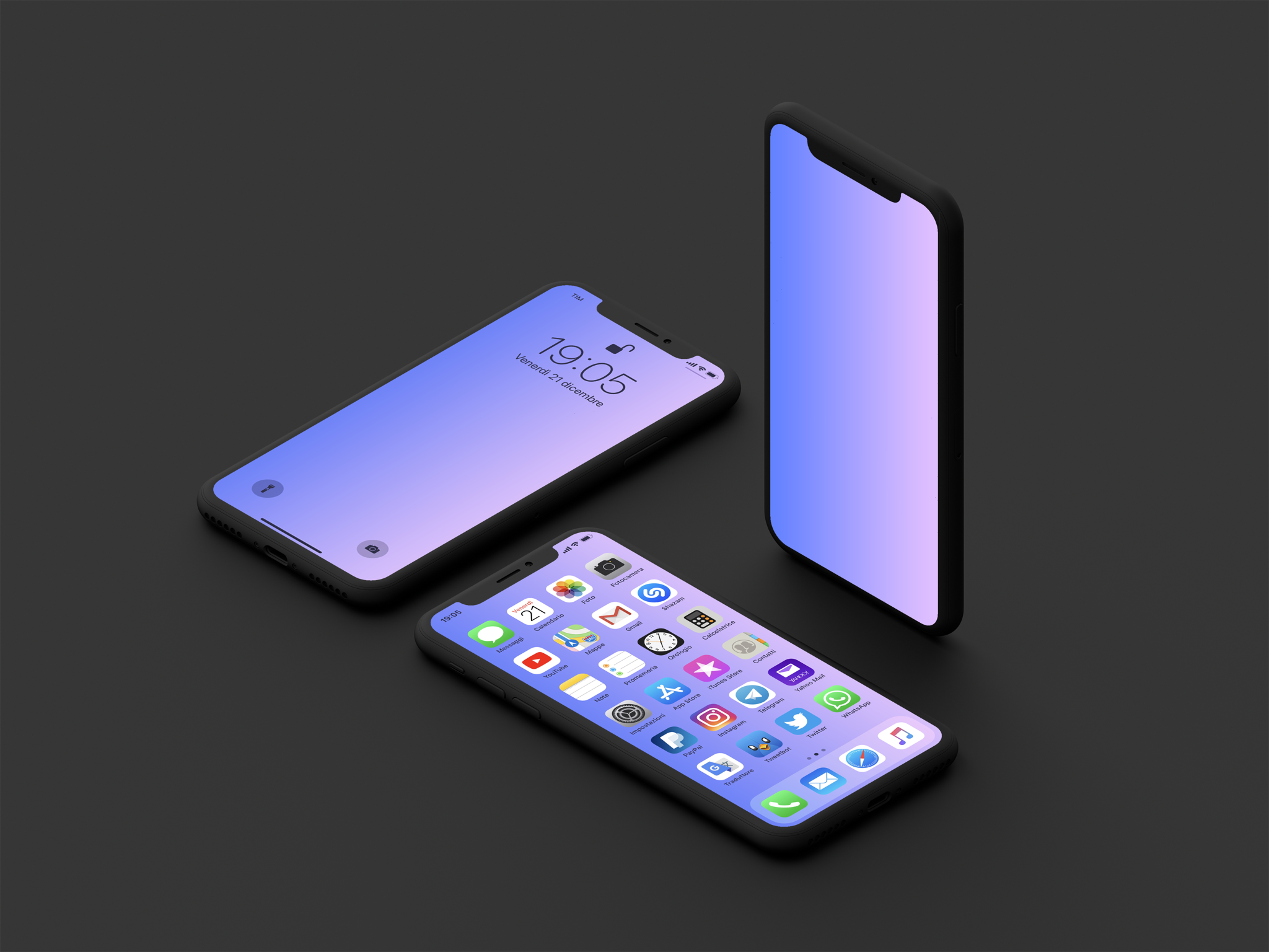 Simple gradient wallpapers for iPhone 2048x1536