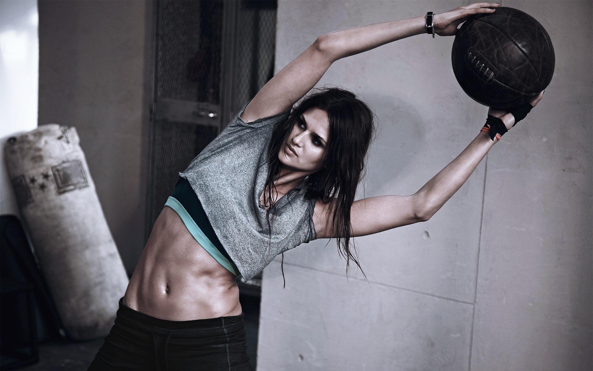 Gym men workout