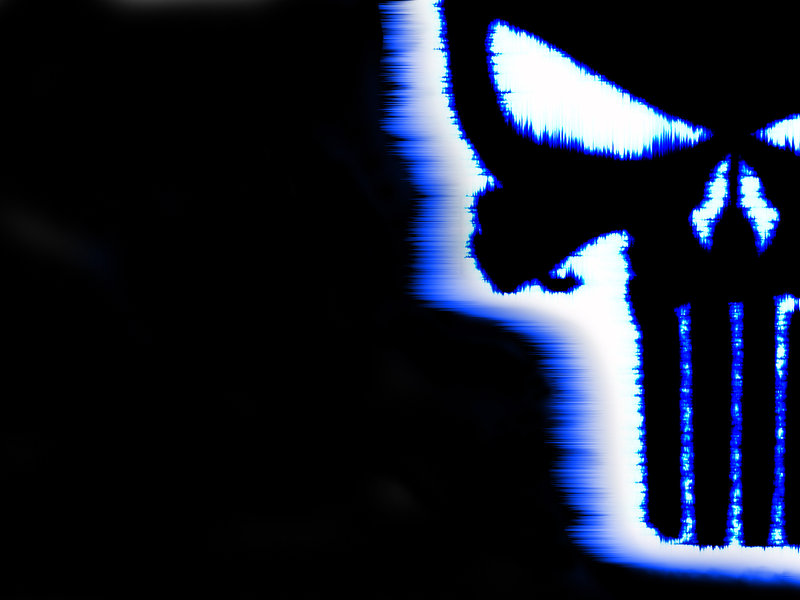 punisher blue line wallpaper