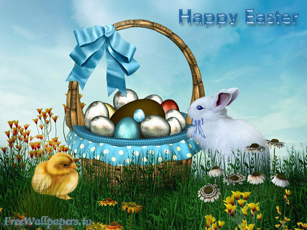 Easter Scenes Wallpaper