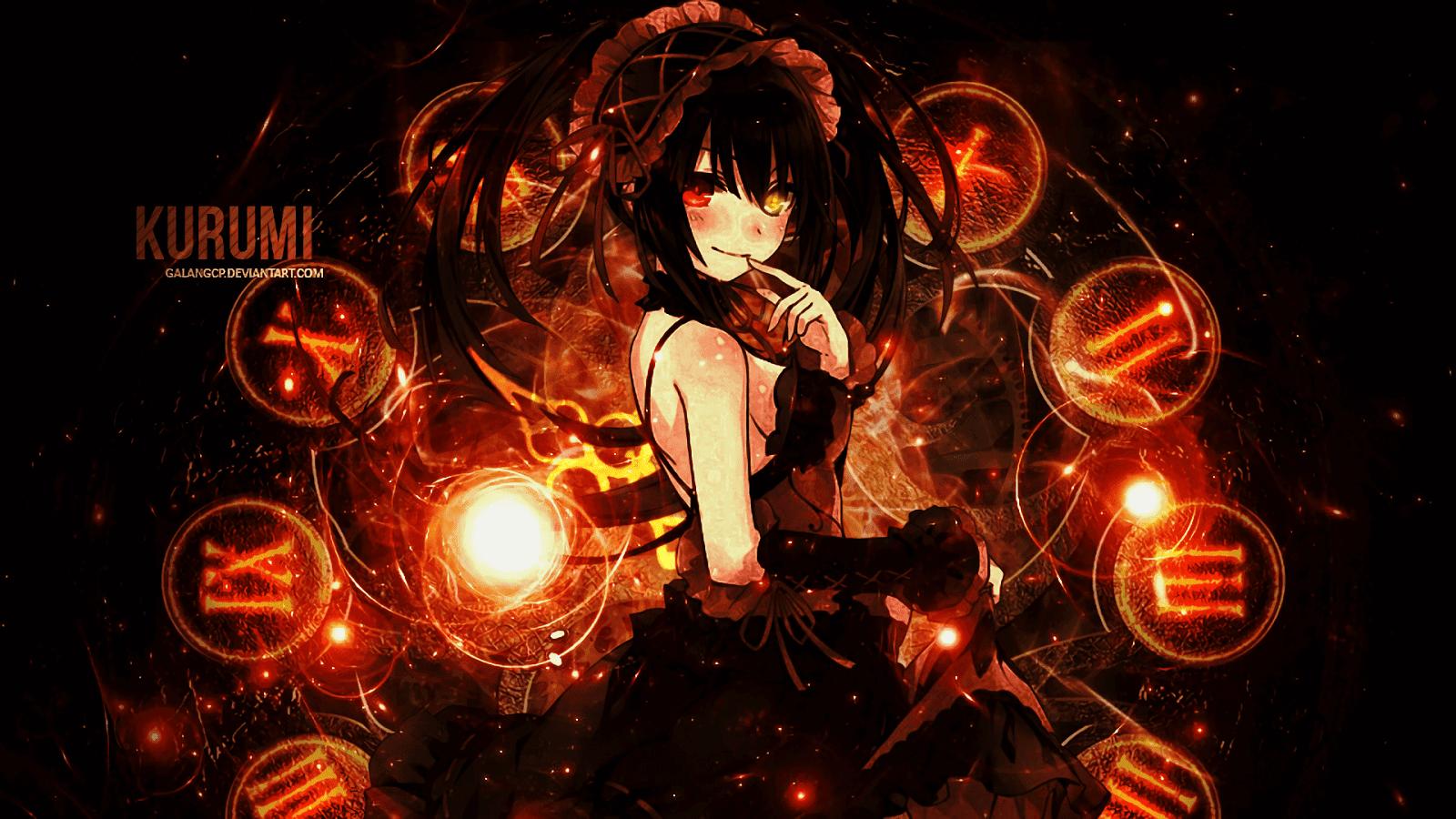 PC] Kurumi Tokisaki Seni anime Seni Animasi 1600x900
