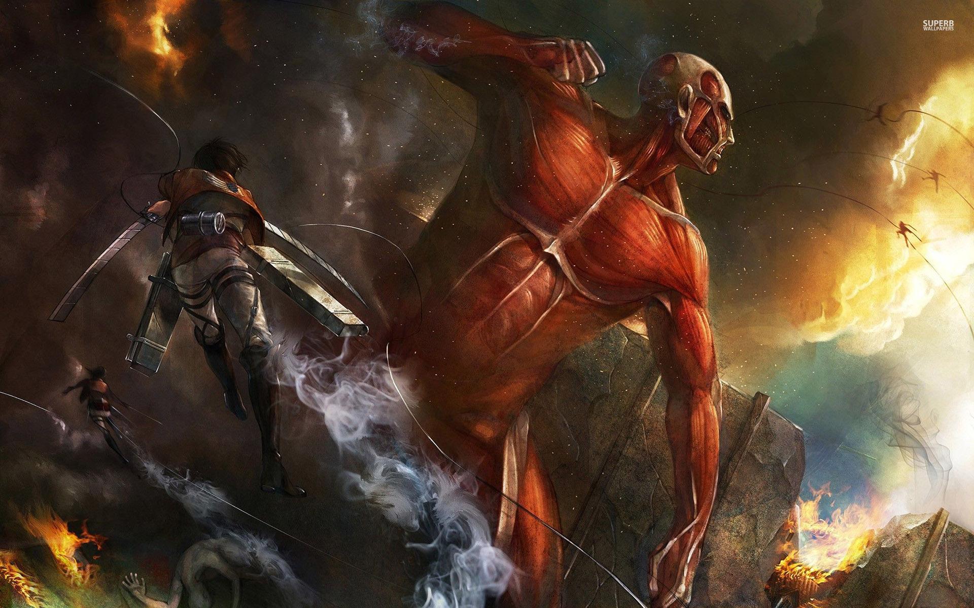 49 Attack On Titan Hd Wallpaper On Wallpapersafari