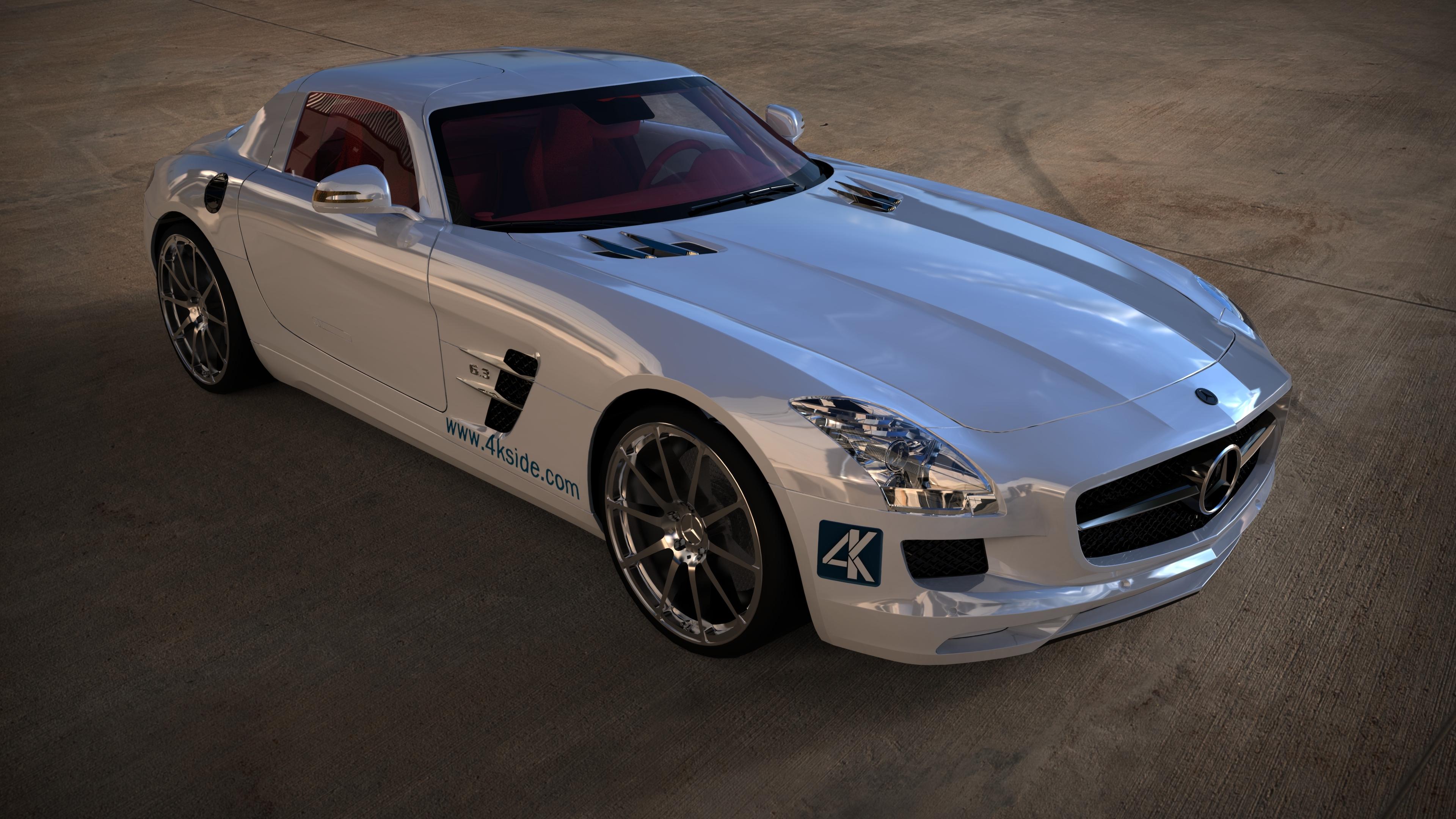 4K Wallpaper  Mercedes SLS AMG Desktop Backgrounds 3840x2160
