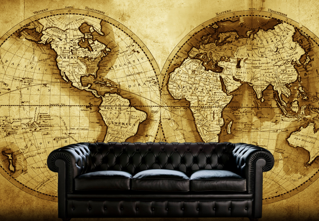 Old World Map Mural.Old Map Wallpaper Mural Wallpapersafari