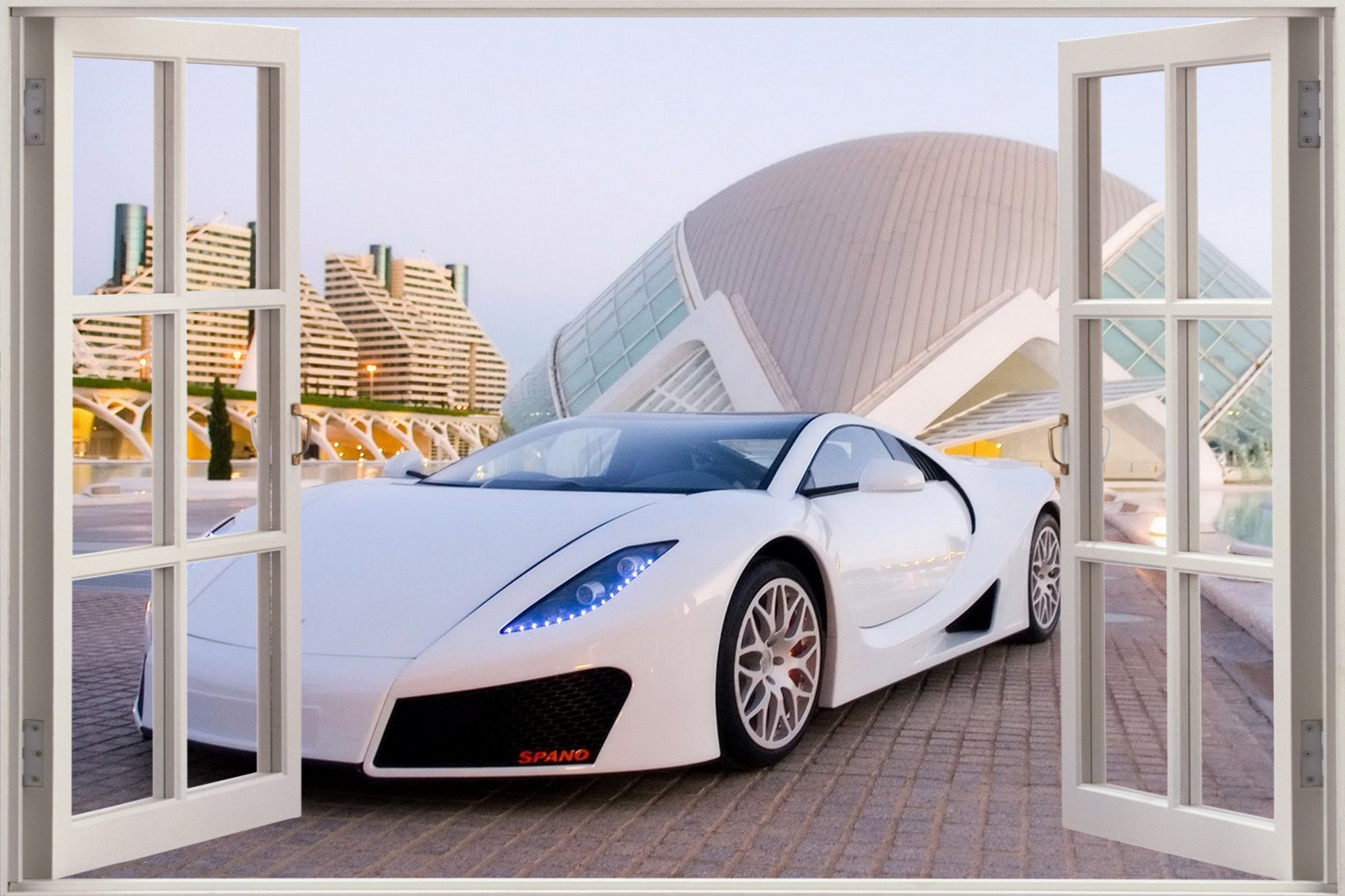 Free Download Huge 3d Window Exotic Sports Car View Wall Stickers Film Mural Decal 2000x1333 For Your Desktop Mobile Tablet Explore 50 3d Wallpaper Murals For Sale 3d Bedroom