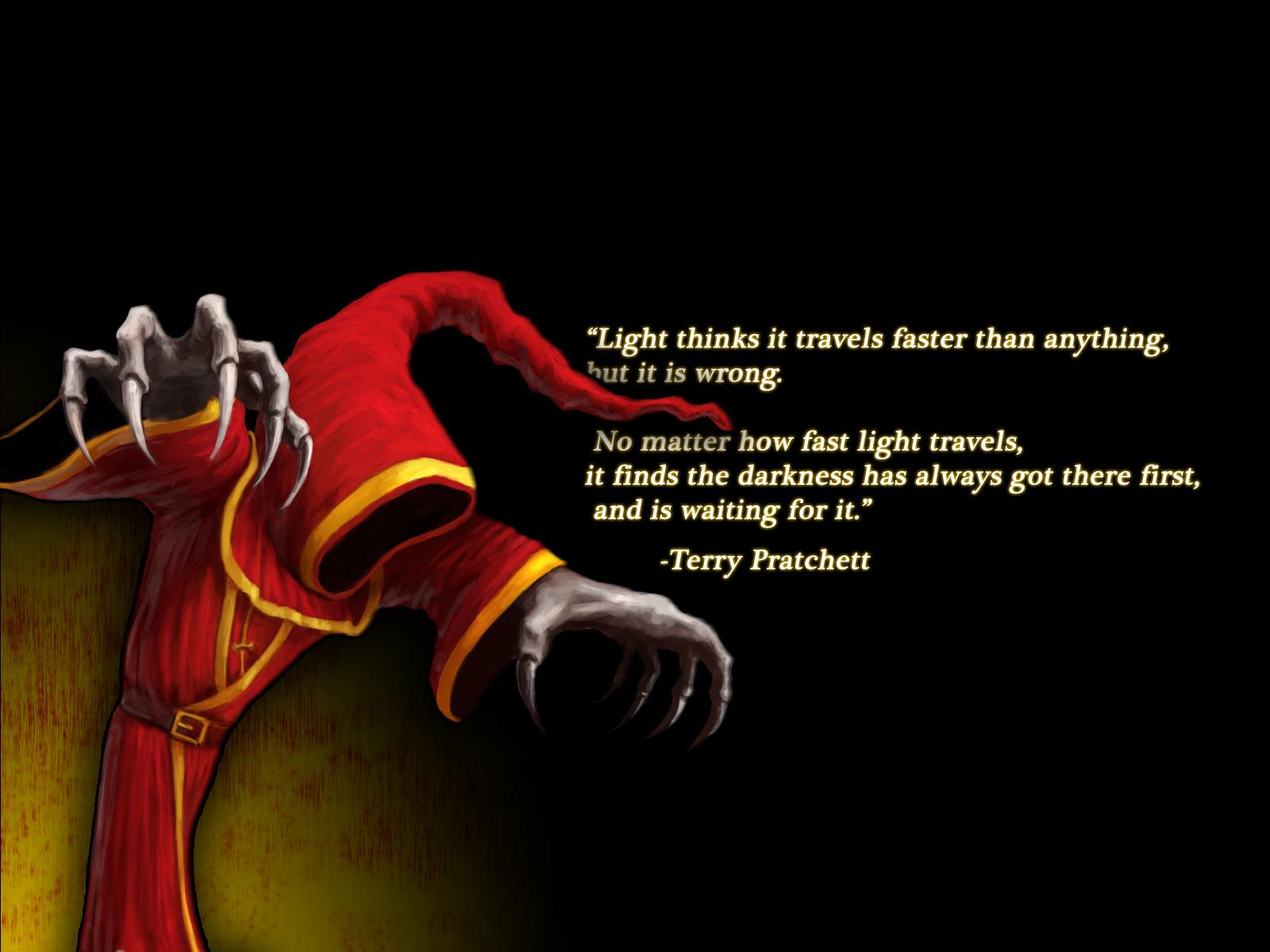 Terry Pratchett Black Light Darkness Creepy fantasy league legends 1600x1200
