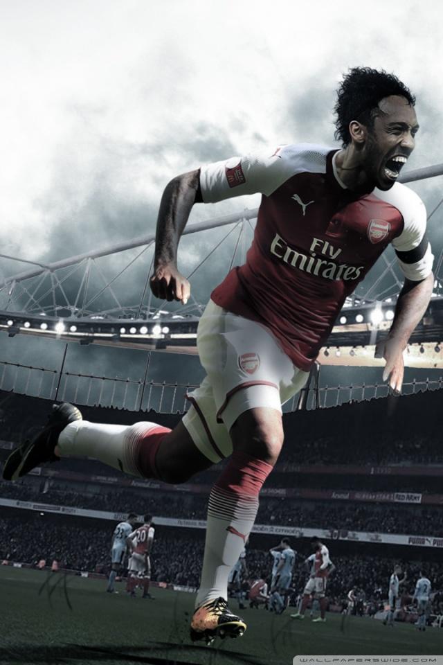 Aubameyang Welcome to Arsenal Wallpaper 201819 4K HD 640x960