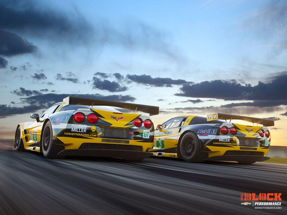 Corvette Racing Richard Prince ALMS C6R Automotive Desktop Wallpaper 1000x750