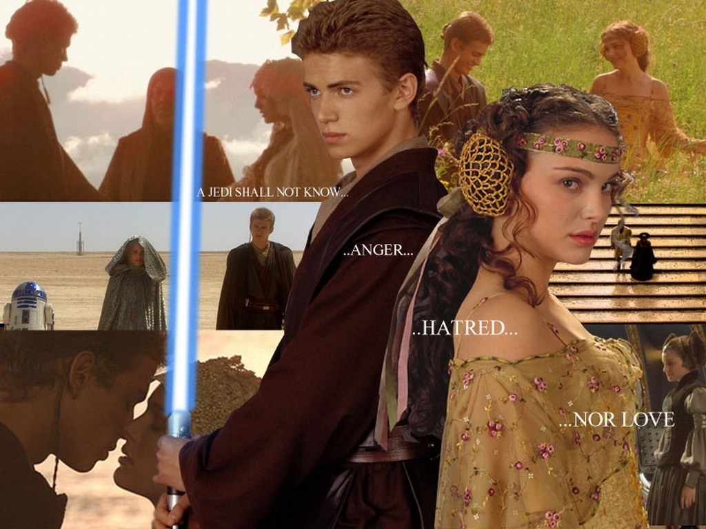 Anakin and Padme images Anakin and Padme Wallpaper wallpaper photos 1024x768