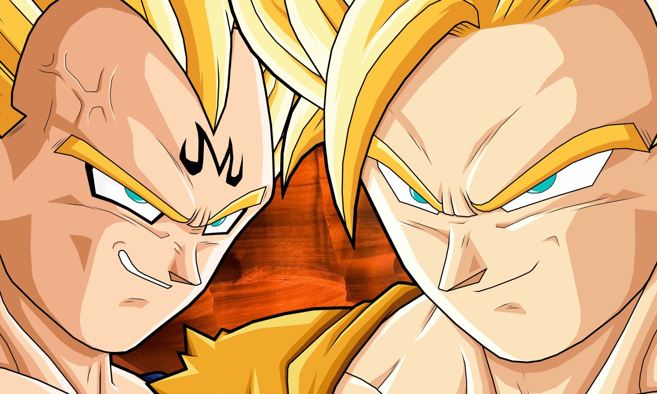 SSJ Majin Vegeta vs SSJ Goku wallpaper   ForWallpapercom 1280x768