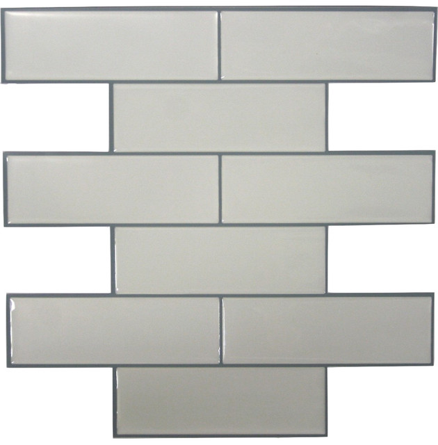 White Subway Stick Tile Sample   Eclectic   Wall Decor   by American 630x640