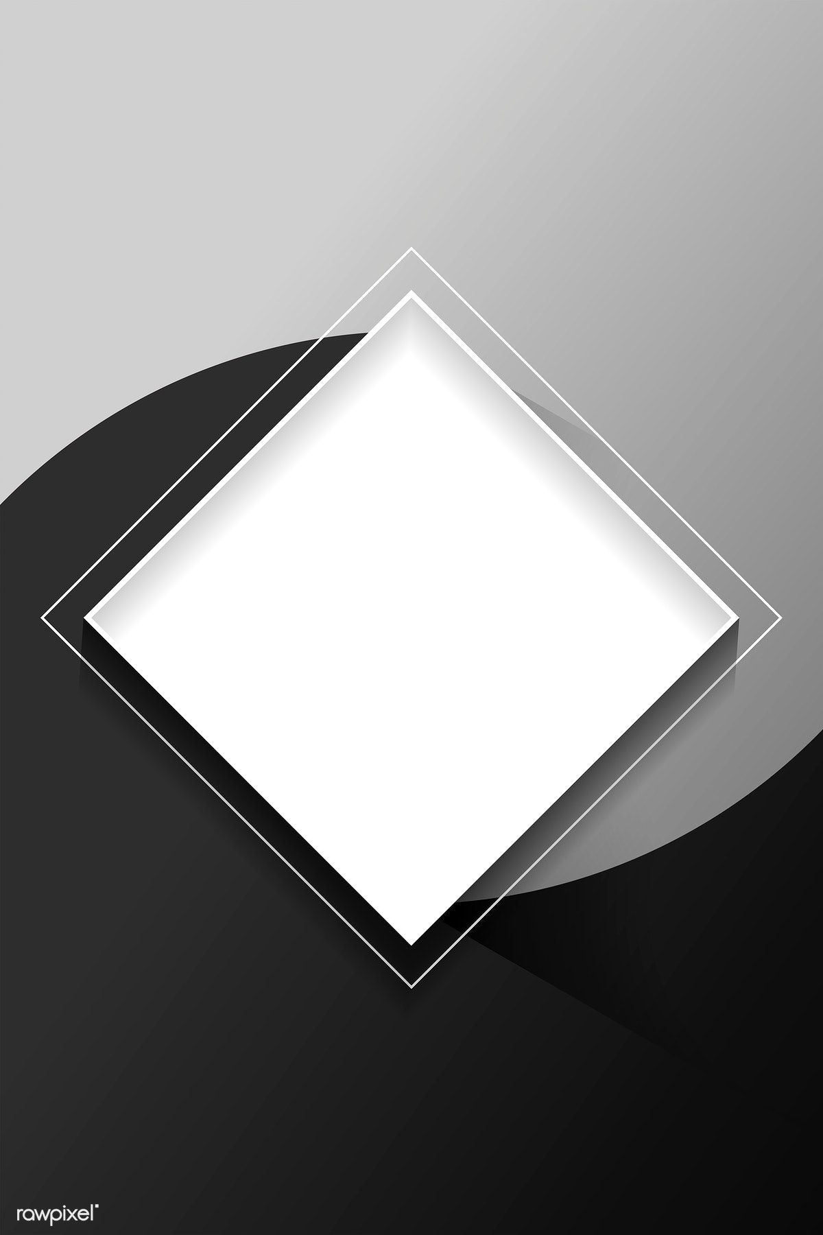 Download premium vector of Blank square white abstract frame 1200x1800