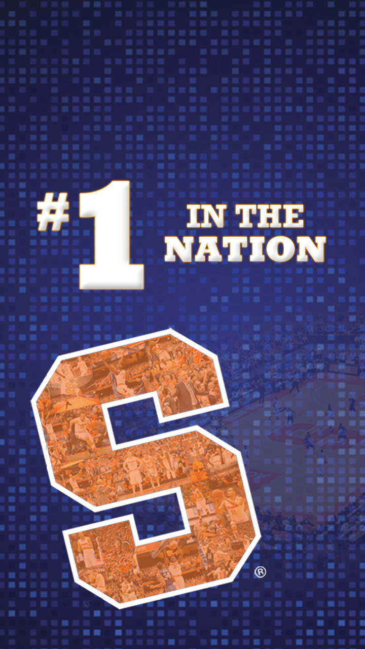 Syracuse basketball wallpapers Celebrate SUs No 1 ranking on your 720x1280