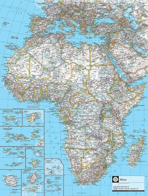 Map of Africa Wallpaper Wall Mural   Self Adhesive   Multiple Sizes 484x640