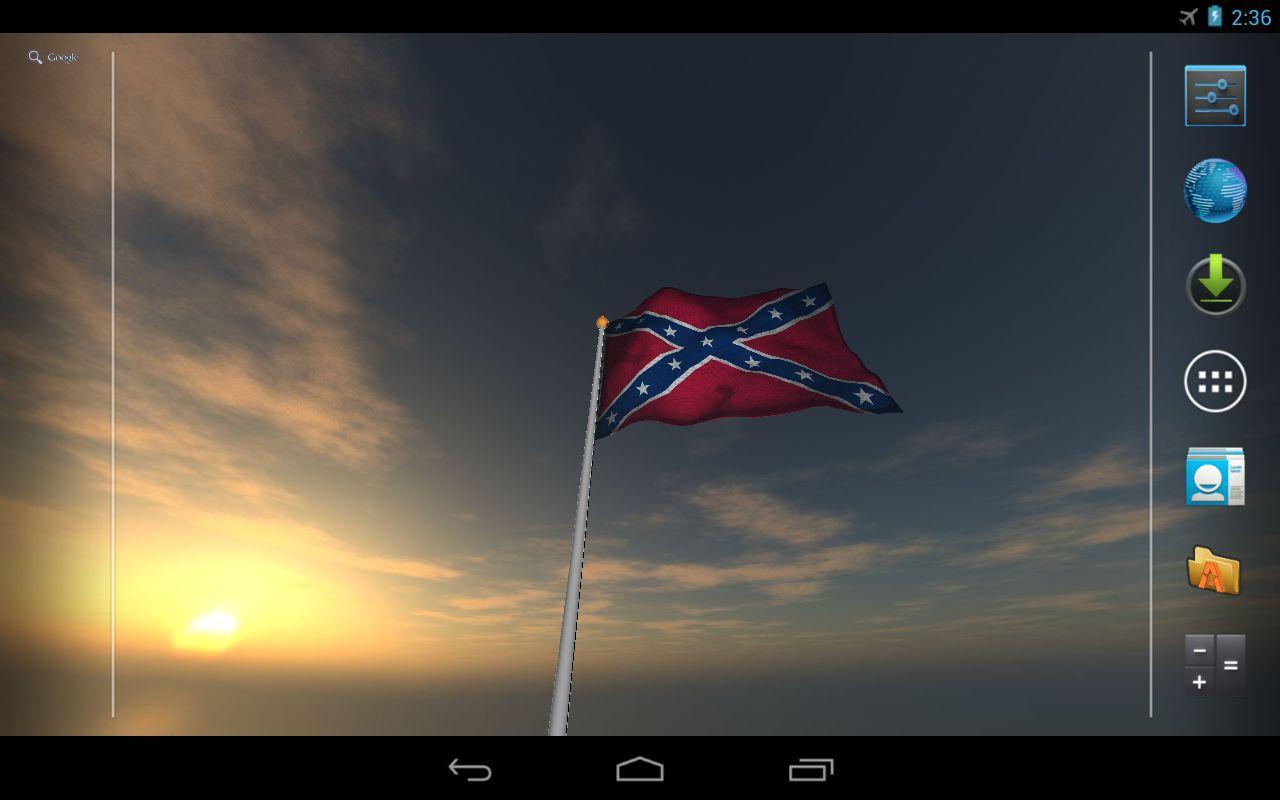 Real Rebel Flag Live Wallpaper   screenshot 1280x800