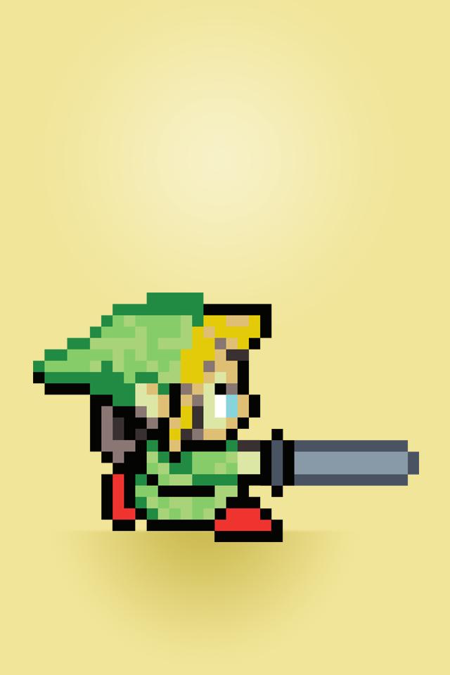 Bit Background Zelda Here is an iphone wallpaper 640x960