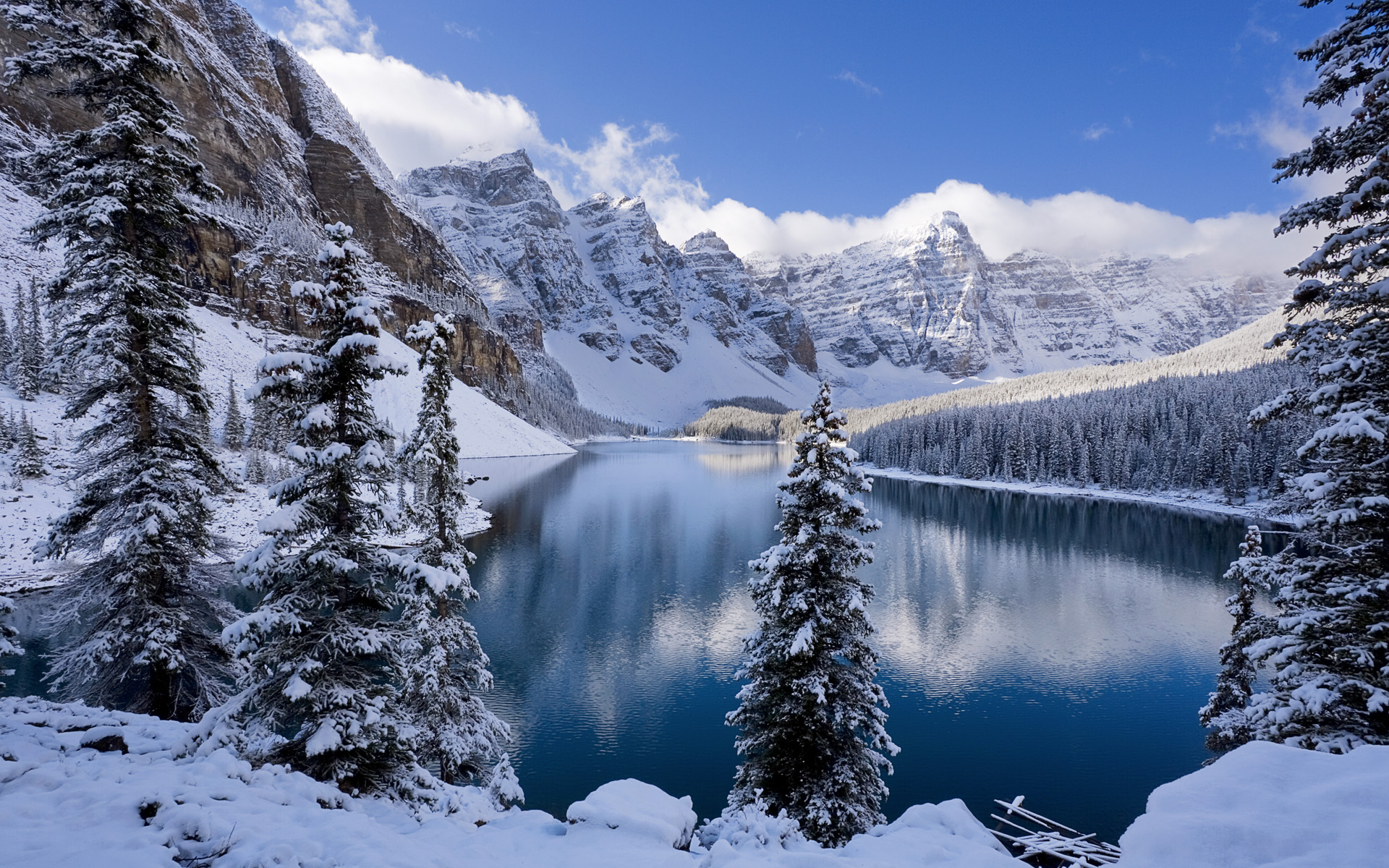 Moraine Lake in Winter Canada Wallpapers HD Wallpapers 1920x1200