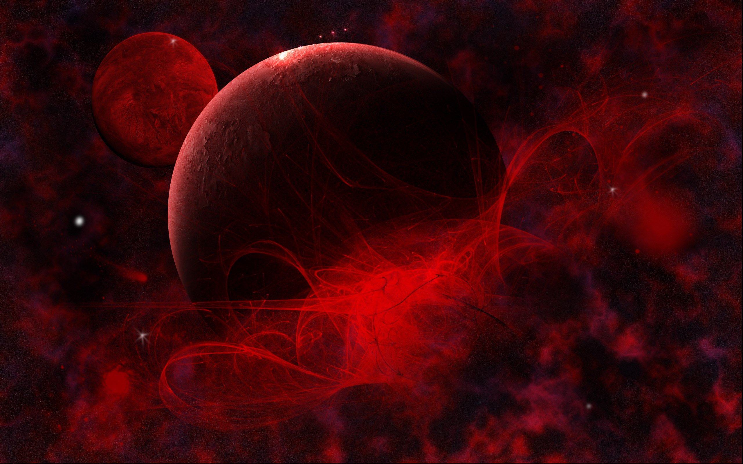 Red space wallpaper wallpapersafari - Black space wallpaper ...