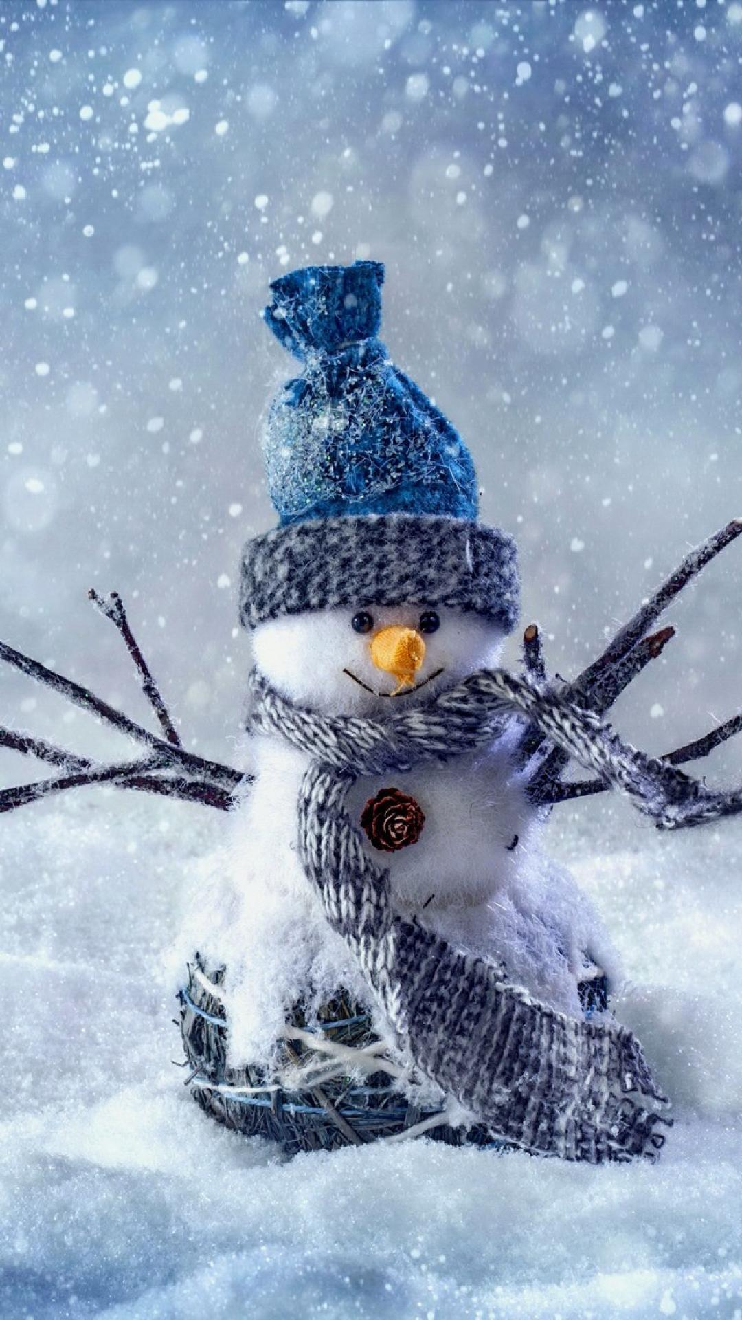 Snowman Cute winter iPhoneX wallpaper iPhone Wallpapers 1080x1920