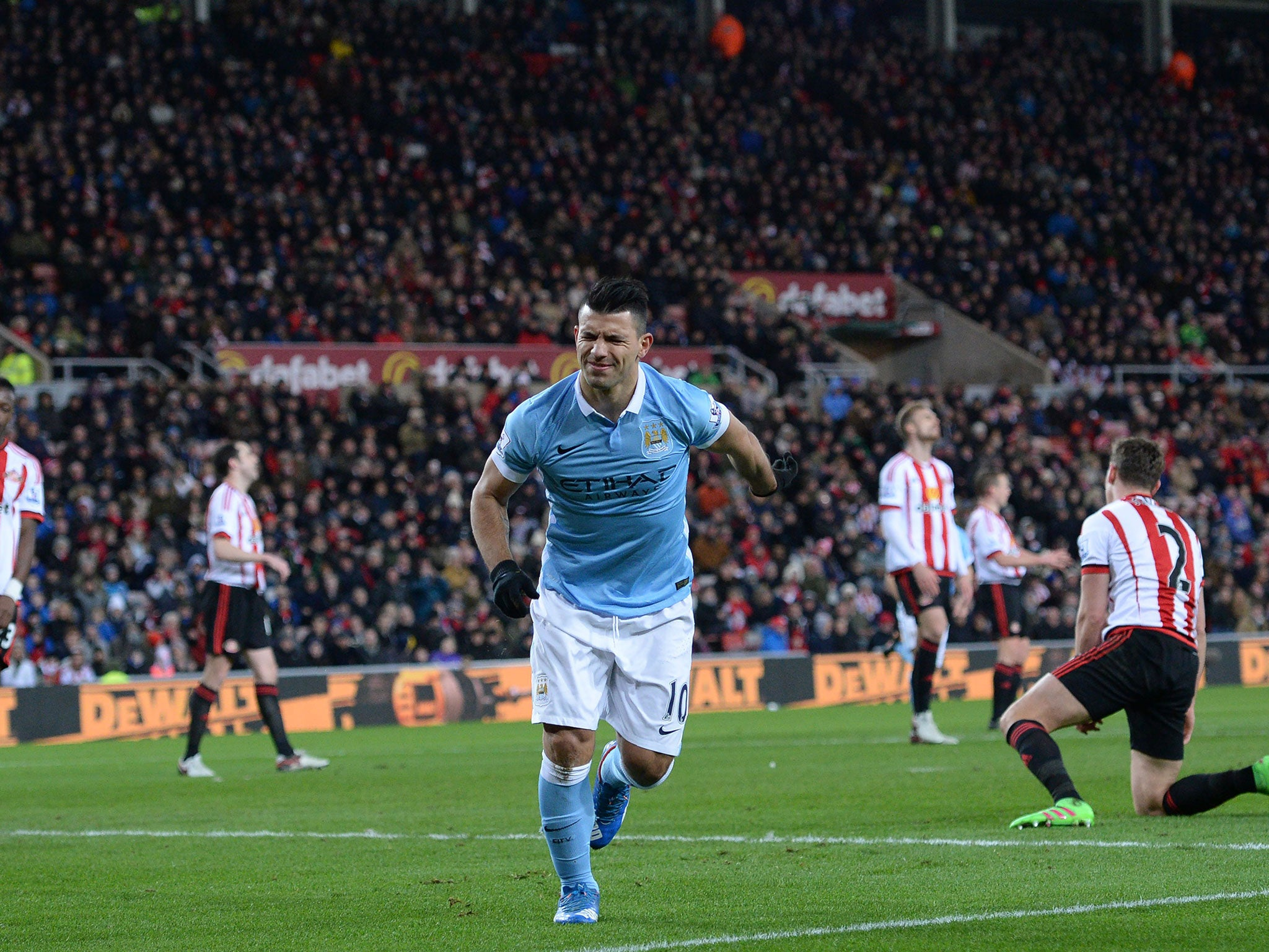 Sunderland vs Manchester City Sergio Aguero scores only goal as 2048x1536