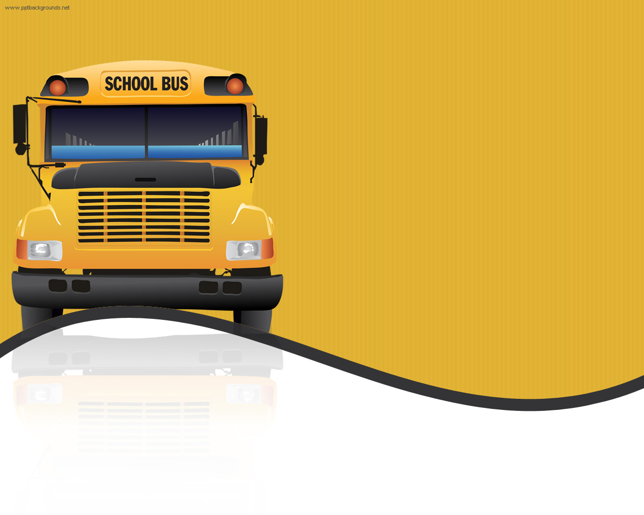 School Bus Transportation Backgrounds For PowerPoint   Education 1280x1024