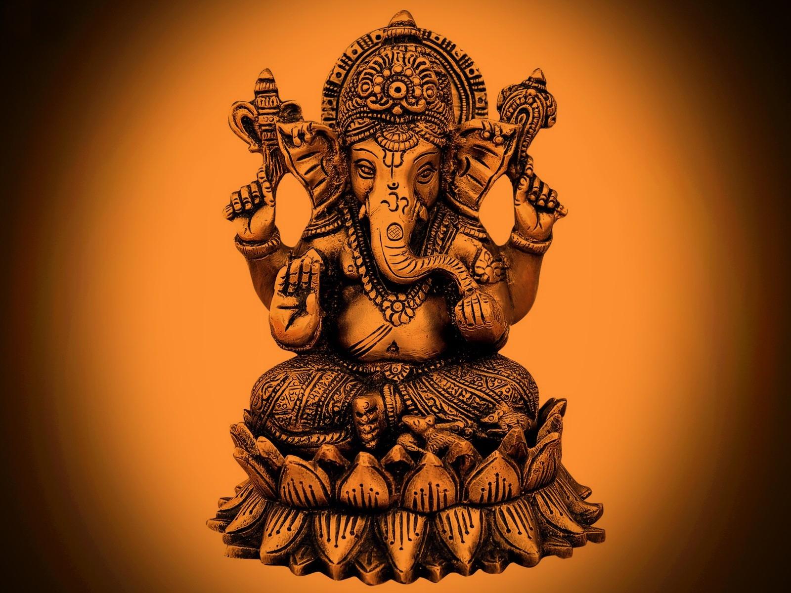 Home God Lord Ganesha Ganesh Bhagvan HD Wallpapers 1600x1200