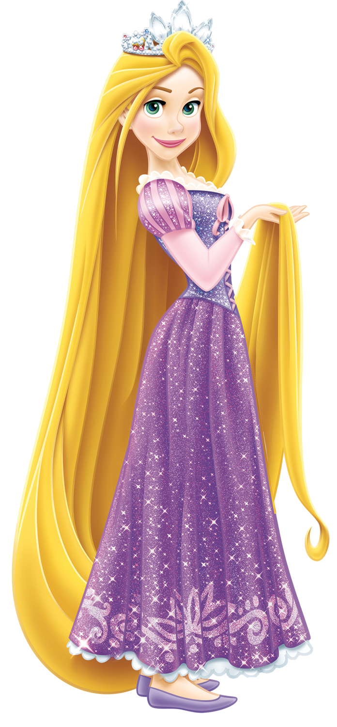 RMK2552GM Disney   Princess Rapunzel Giant Wall Stickers with Glitter 696x1500