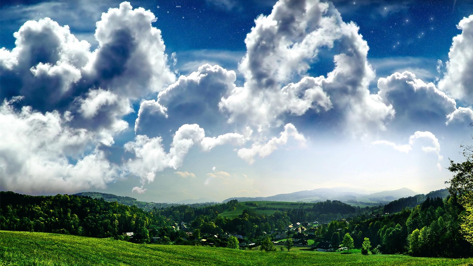 hd beautiful windows cloud and grass desktop wallpapers backgrounds 1920x1080