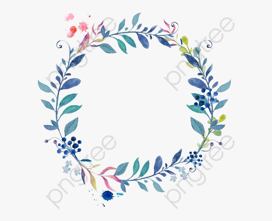 Wreath Border Clipart   Transparent Background Watercolor Flower 920x749