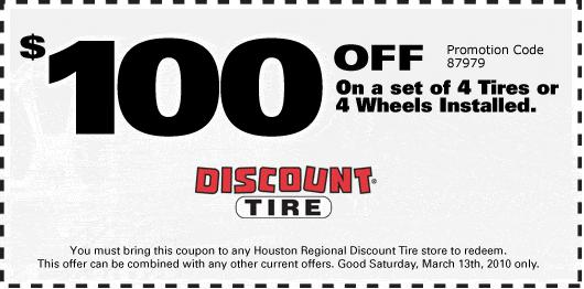 100 off discount tire saturday only coupon inside discount tirejpg 530x262