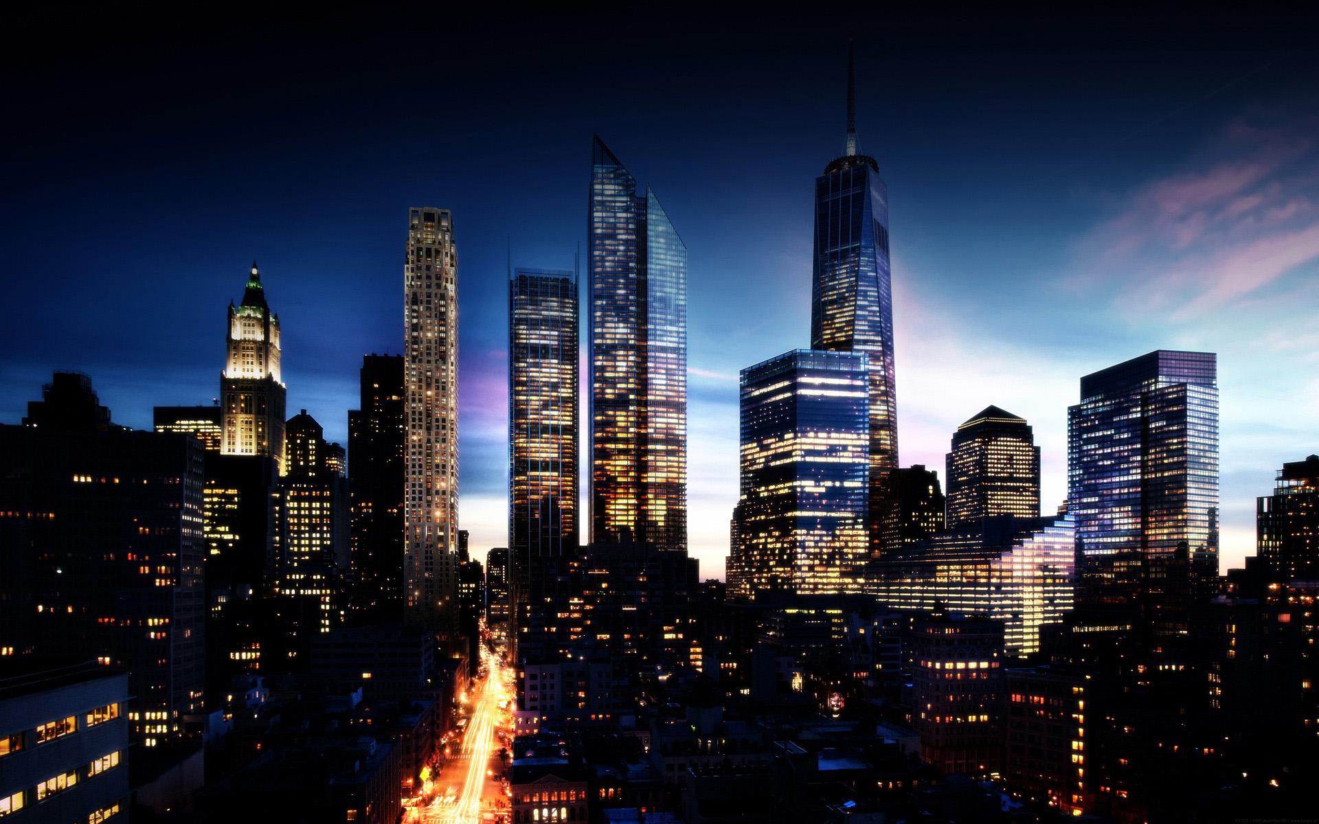 New York At Night Wallpaper 1920x1200