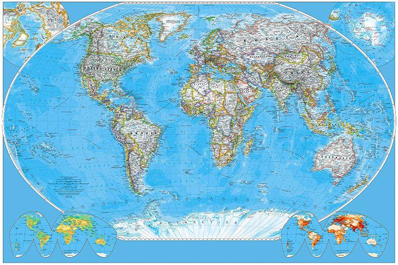 Self Adhesive World Map Decorating photo wall Mural wallpaper peel and 787x525