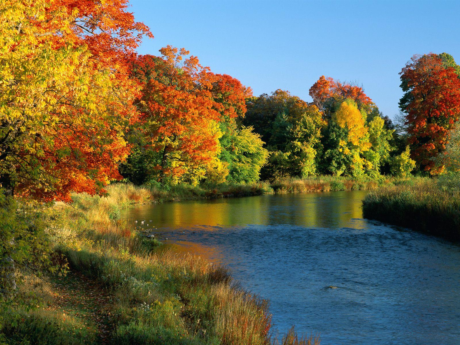 River Ontario Canada postcard Credit River Ontario Canada wallpaper 1600x1200