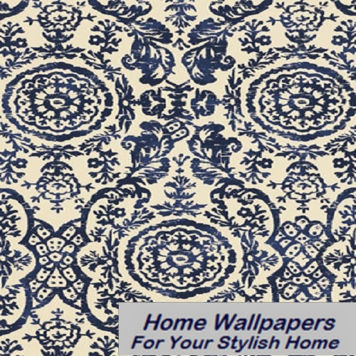 Thibaut Wallpaper   Richmond   Sansome T4151 Navy 500x500
