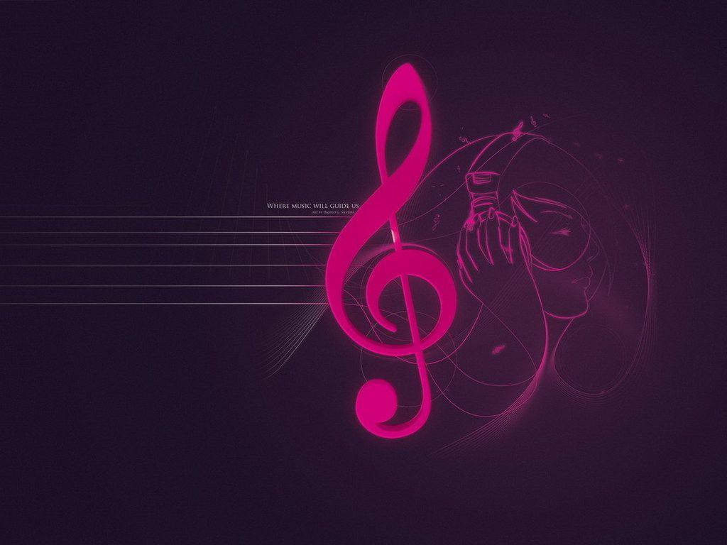 Pink Music Wallpaper: Cute Music Note Wallpaper
