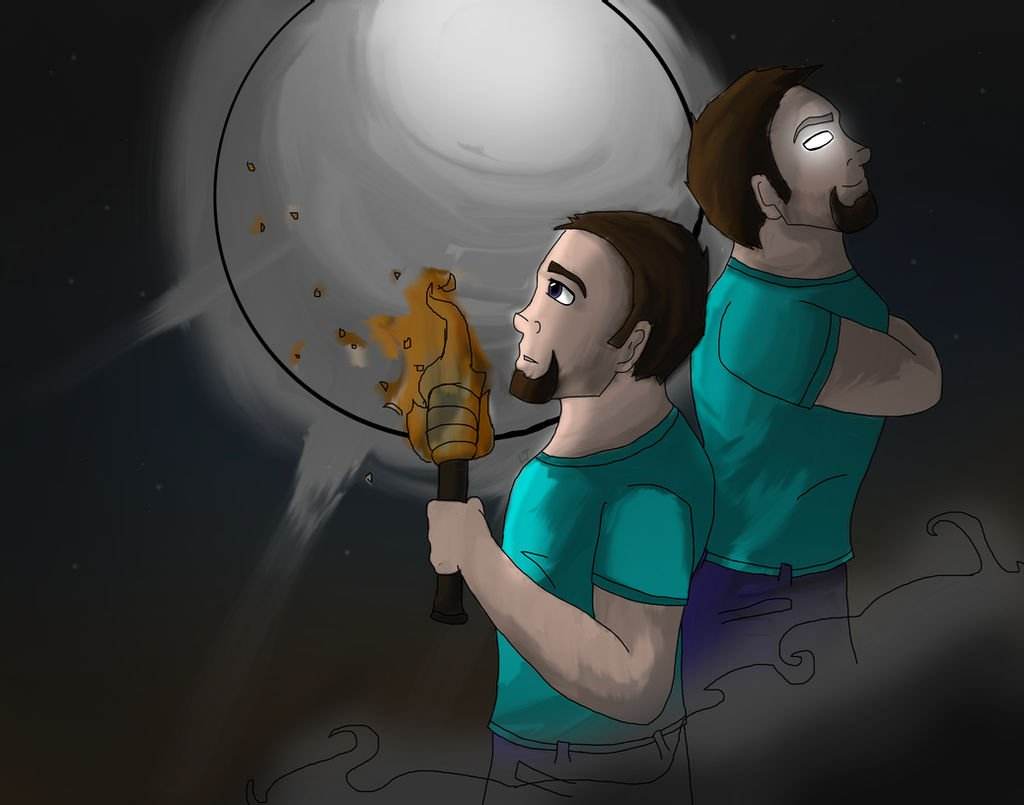 Steve and Herobrine Wallpaper by TheDovahBrine 1024x805