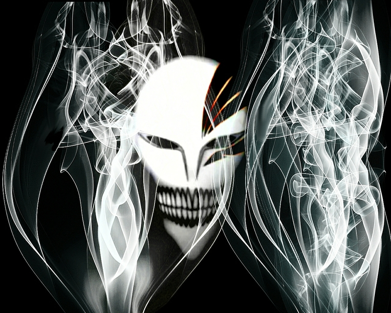 Bleach wallpaper hollow mask