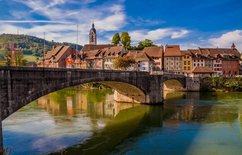 Wallpaper bridge river building home Germany Germany Baden 1332x850