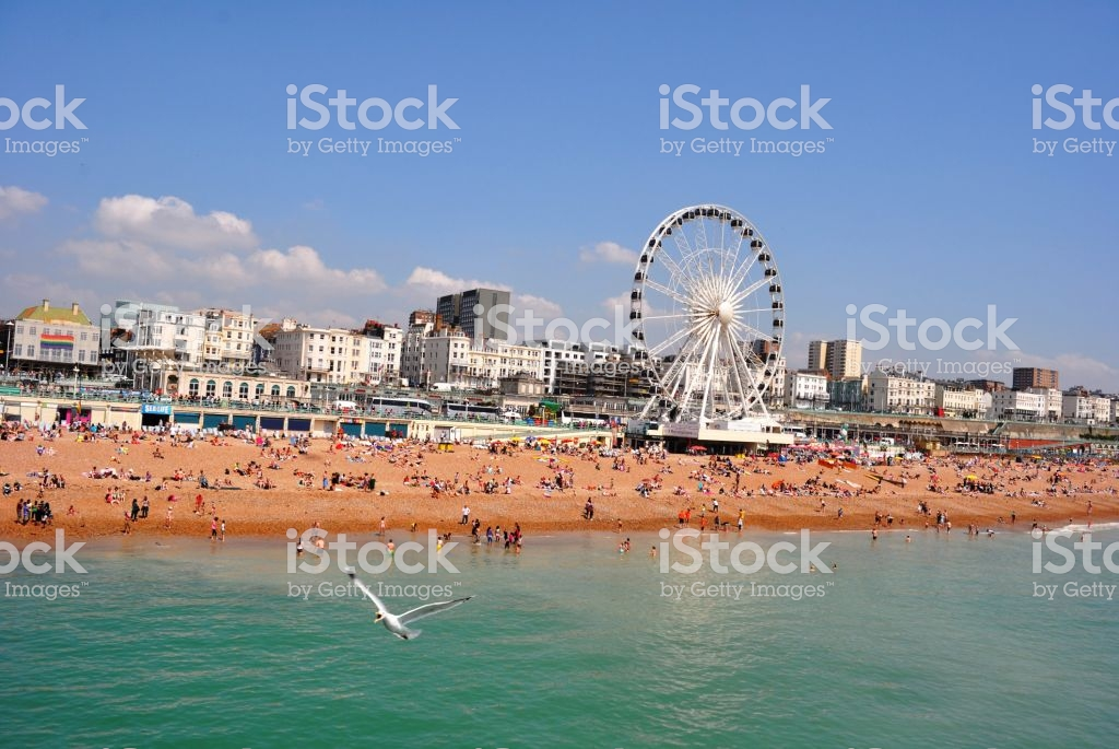 Brighton Beach With Giant Wheel And Grand Hotels In Background 1024x685