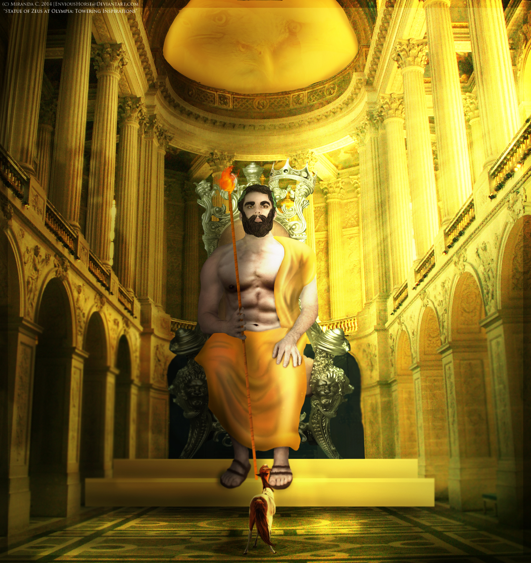Statue of Zeus at Olympia Towering Inspirations by EnviousHorse 1701x1805