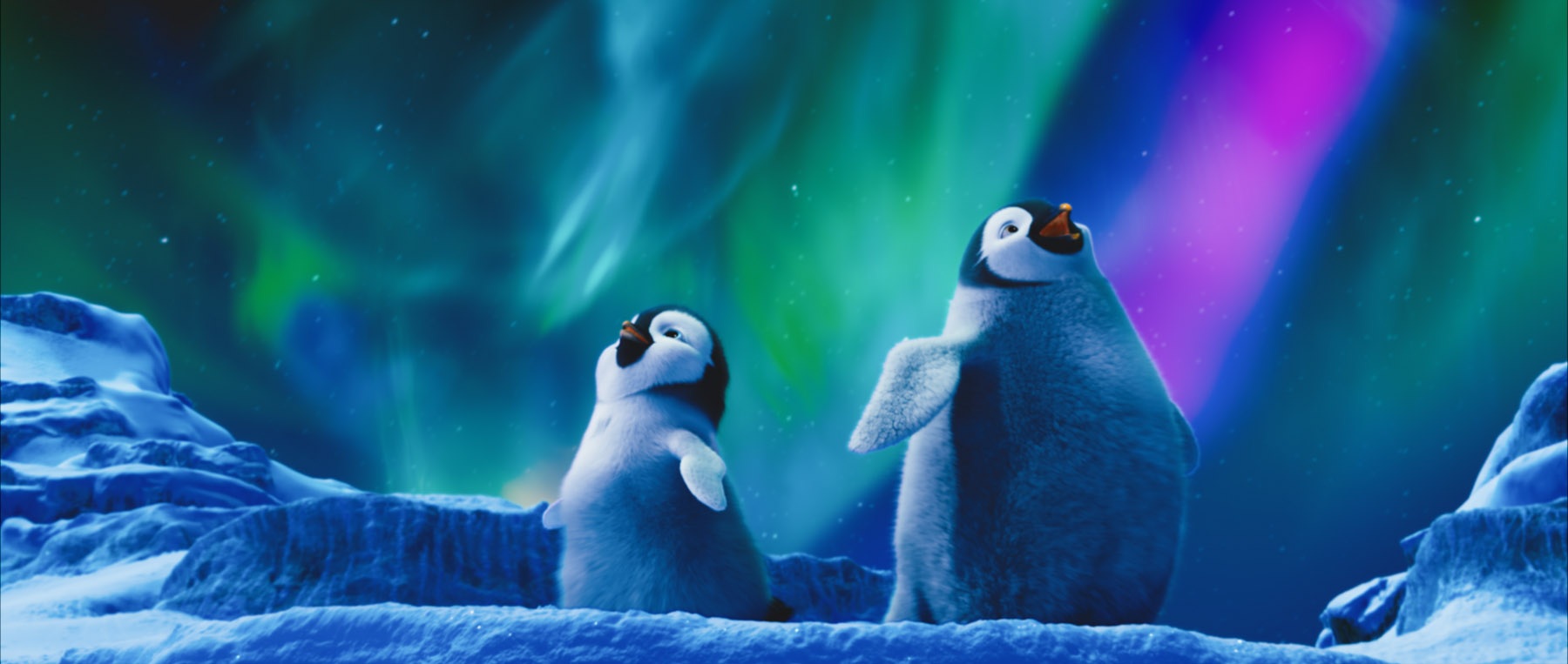 Erik and Atticus in Happy Feet 2 Desktop Wallpaper 1800x763