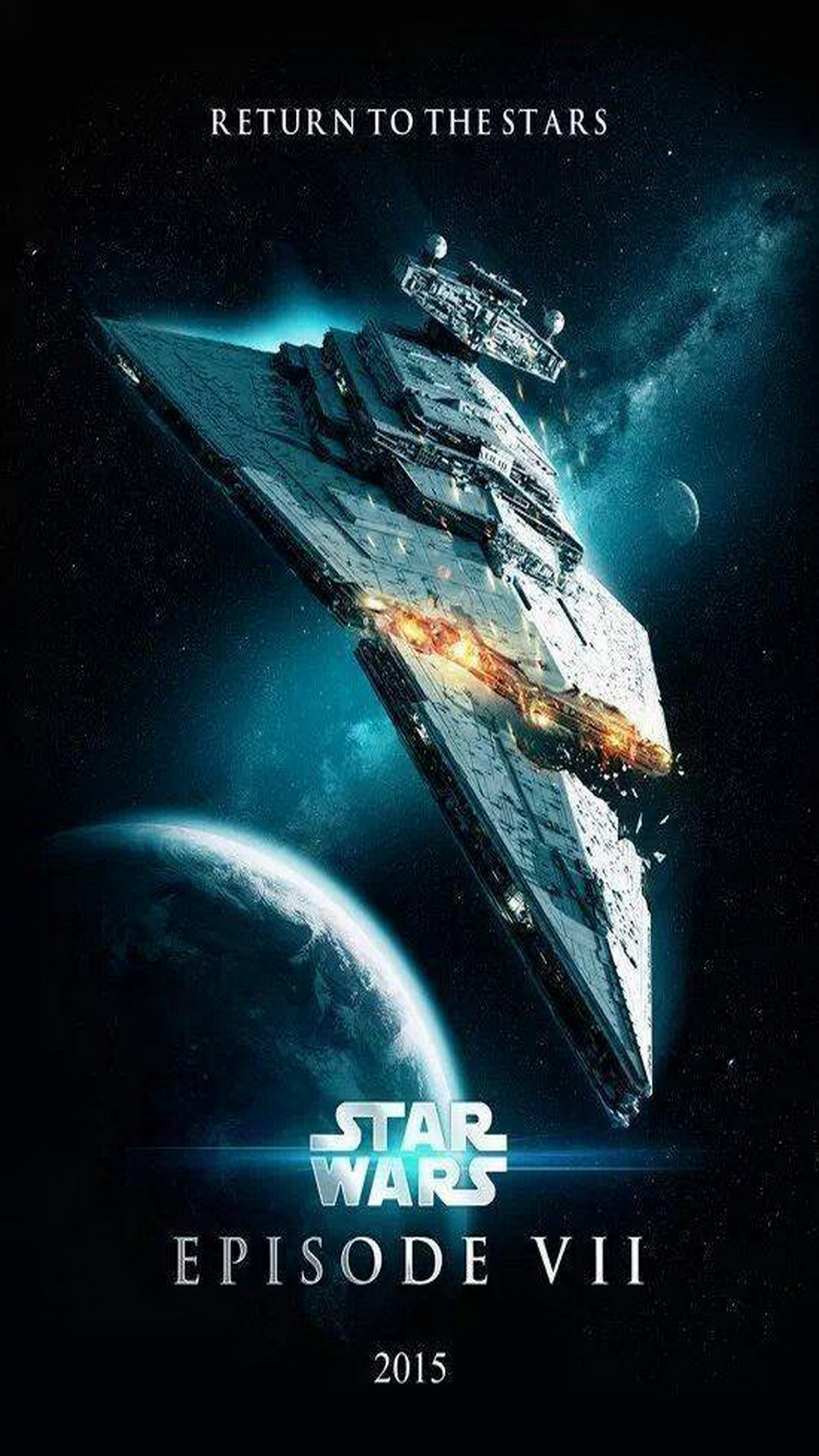 Star Wars Episode VII The Force Awakens 2015 Poster Galaxy Note 1440x2560