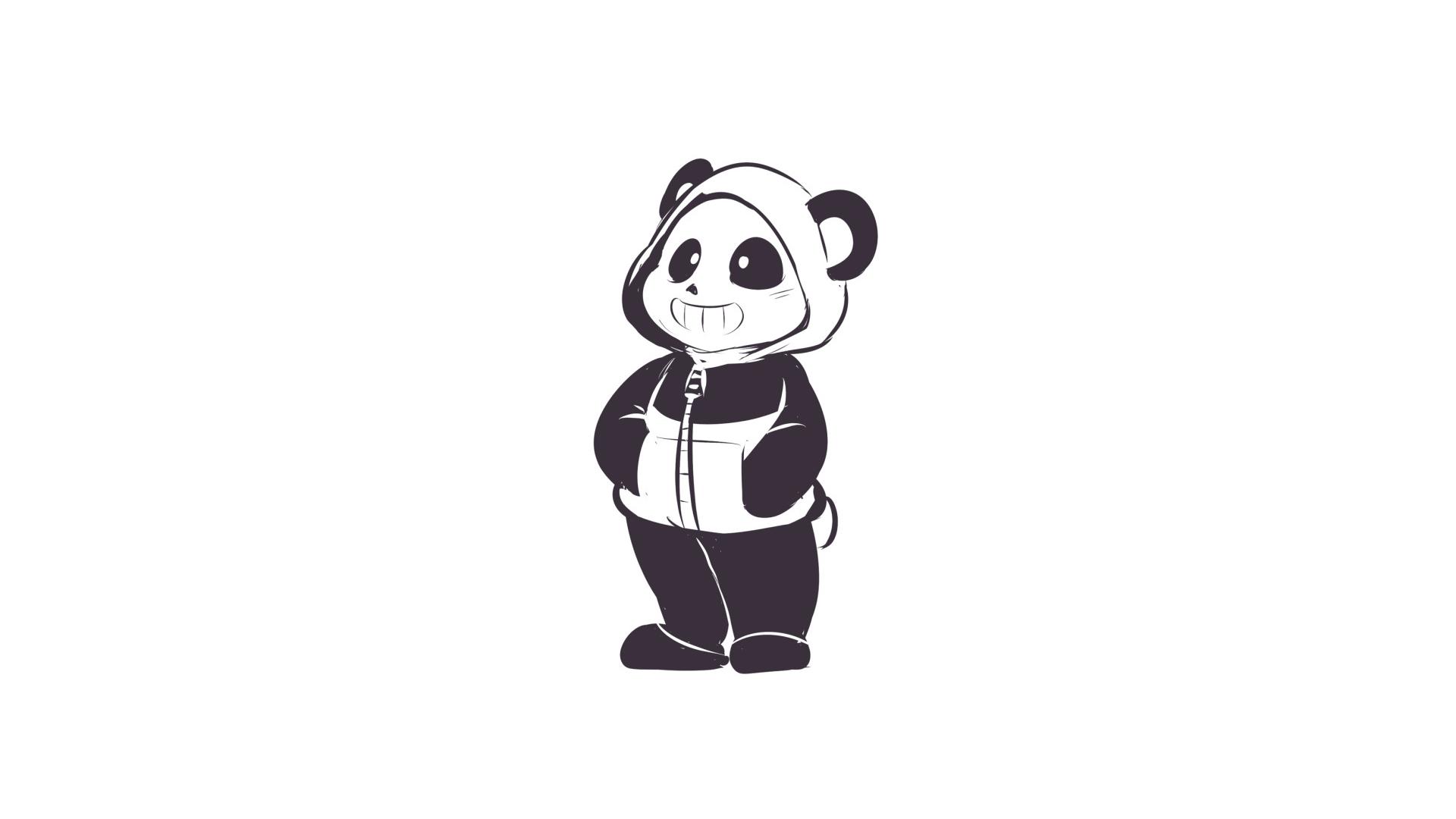 Undertale Panda Sans wallpaper happy panda wallpaper hoodie sketch 1920x1080