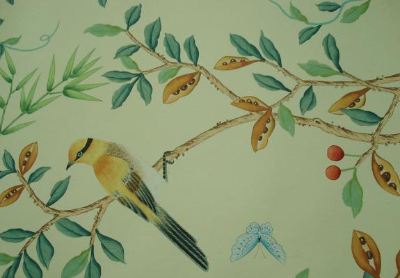 Hand painted wallpaper   Shanghai Zilan Wallcoverings CoLtd 575x400
