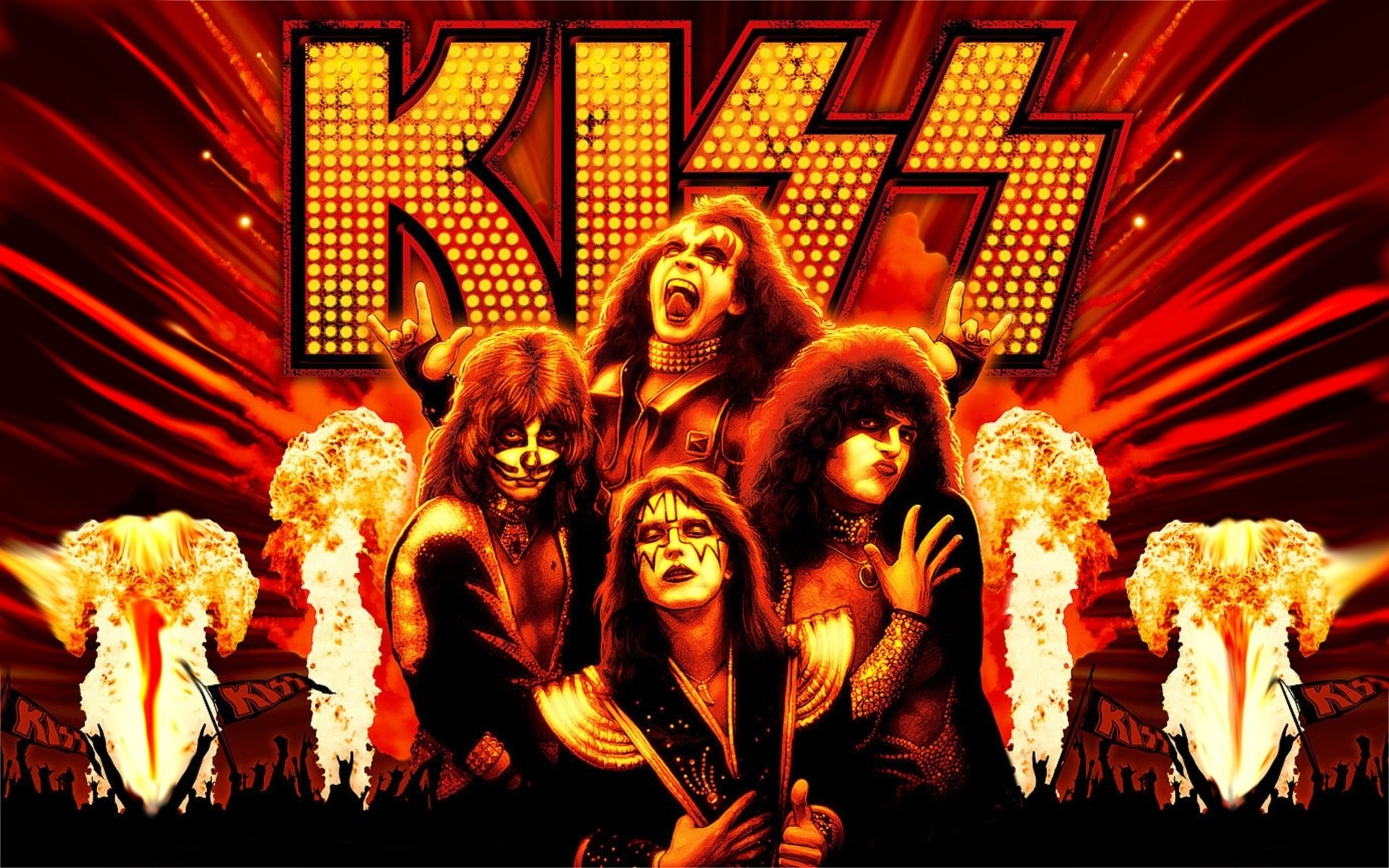 Rock Band Kiss Wallpapers 48 images 1920x1200