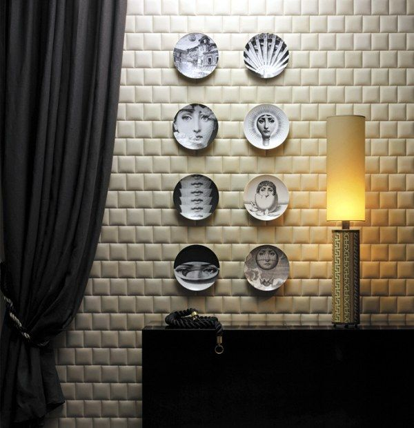 Faux Leather Tiles for Stylish Creative Wall Decors   Freshomecom 600x620