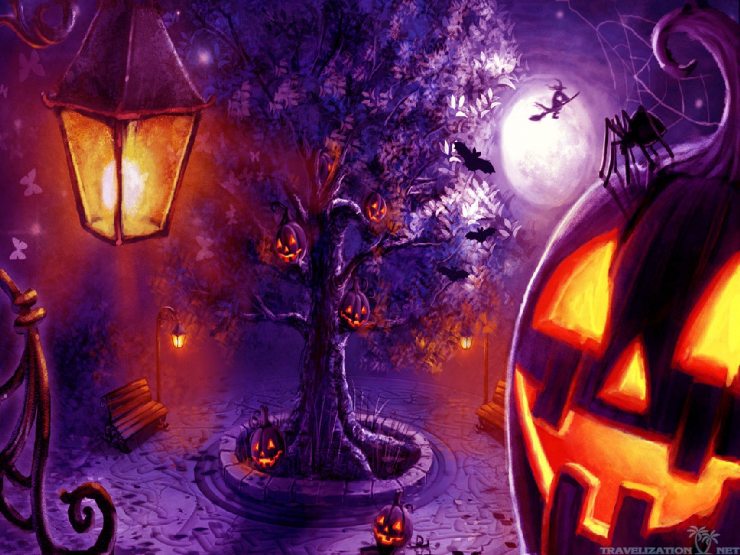 55 Purple Halloween Wallpapers   Download at WallpaperBro 2560x1920