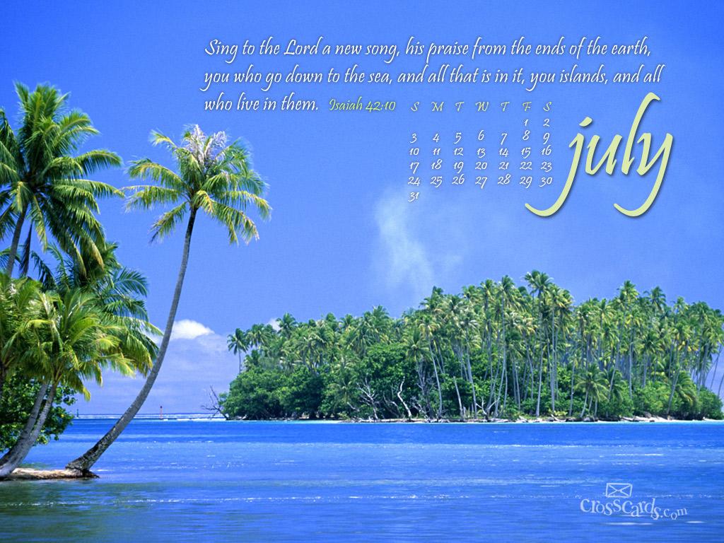 July 2011   New Song Desktop Calendar  Monthly Calendars 1024x768