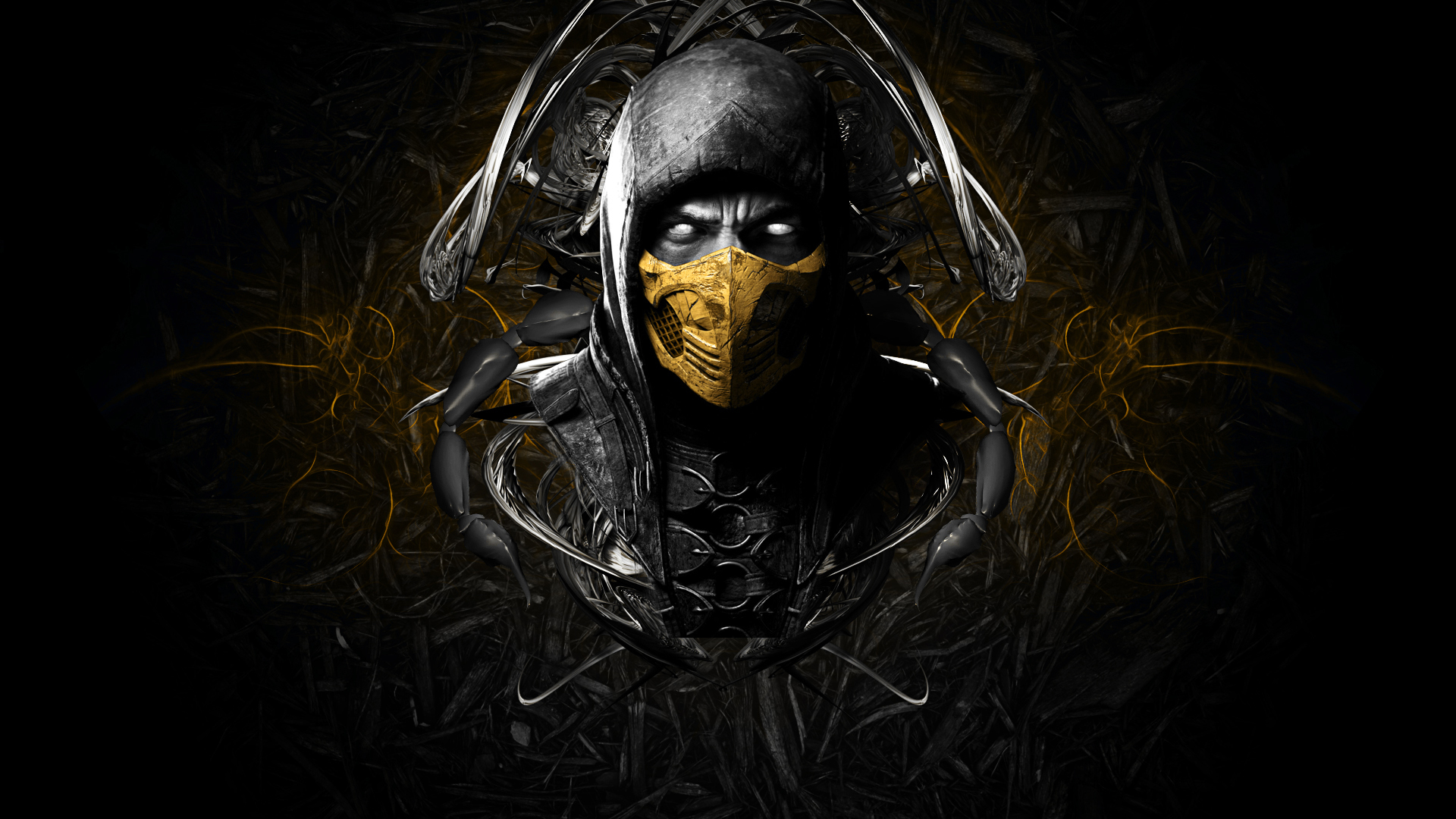 Wallpaper mortal kombat x scorpion ninja wallpapers games   download 1920x1080