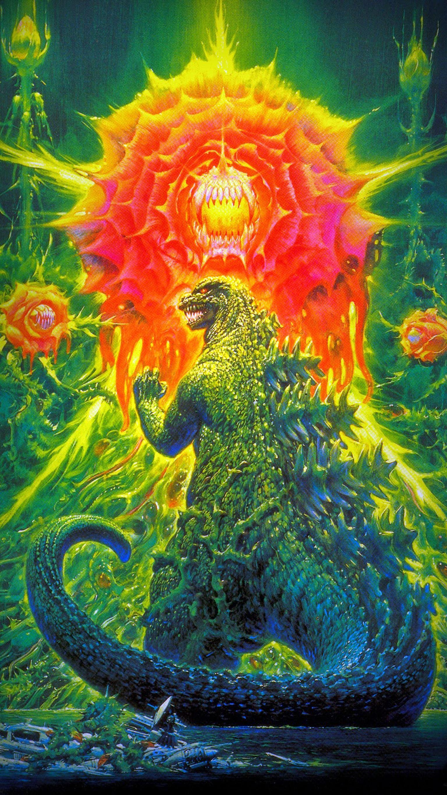 Godzilla vs Biollante 1989 Phone Wallpaper Moviemania 1536x2732